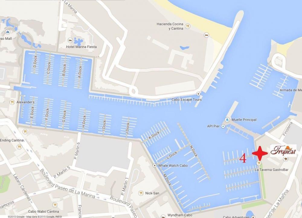 departure location for Tropicat Sunset Cruises