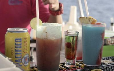 snorkel fun booze cruises in Cabo San Lucas, cabo escape sunset cruise, sundown party cruise