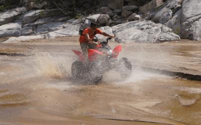 TRX 250cc sports ATV at cactus atv tours inLos Cabos mexico.