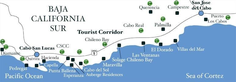 Cabo Real Golf Course | Los Cabos, Mexico  |Cabo San Lucas Golf Courses Map