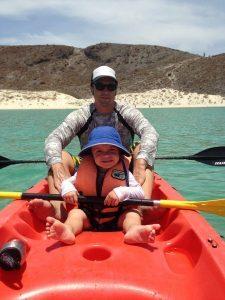 take a kid kayaking in balandra beach