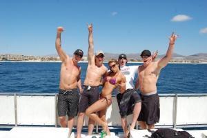 Snorkel fun booze cruis in cabo san lucas, best snorkel cruise for spring break