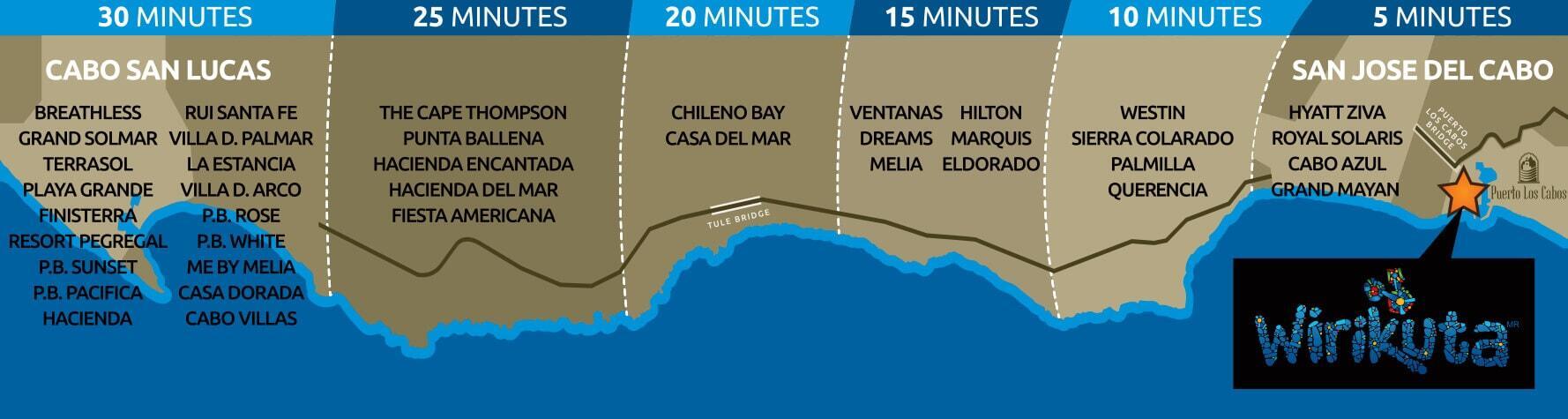 wirikuta dinner show los cabos location map