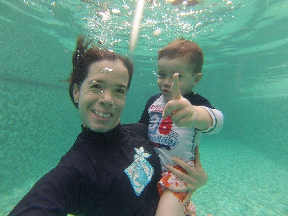 Daniena and Joaquin underwater in Cabo San Lucas